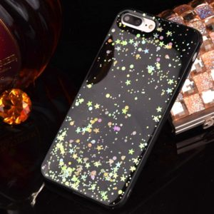 For iPhone 8 & 7 Epoxy Dripping Black Starry Soft TPU Protective Case Back Cover