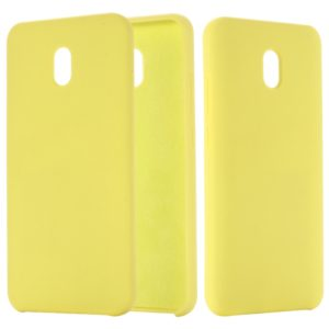 For Xiaomi Redmi 8A Solid Color Liquid Silicone Dropproof Full Coverage Protective Case(Yellow)