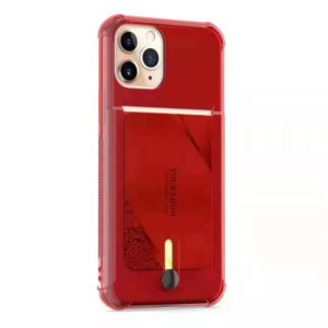 For iPhone 11 Shockproof TPU Protective Case with Card Slot(Red)