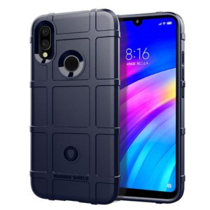 Shockproof Protector Cover Full Coverage Silicone Case for Xiaomi Redmi 7 (Blue)