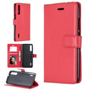 For Xiaomi Mi 9 Crazy Horse Texture Horizontal Flip Leather Case with Holder & Card Slots & Wallet & Photo Frame(Red)