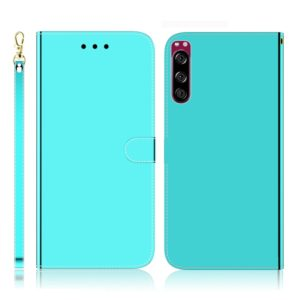 For Sony Xperia 5 Imitated Mirror Surface Horizontal Flip Leather Case with Holder & Card Slots & Wallet & Lanyard(Mint Green)