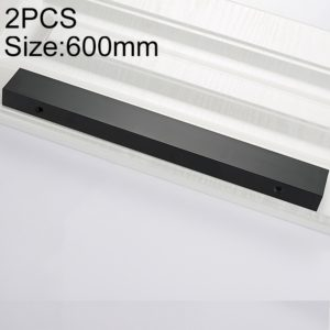 2 PCS 2777_600 Space Aluminum Closet Cabinet Handle Length: 600mm