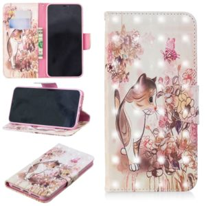 3D Colored Drawing Pattern Horizontal Flip Leather Case for Xiaomi Poco F1, with Holder & Card Slots & Wallet(Cat)