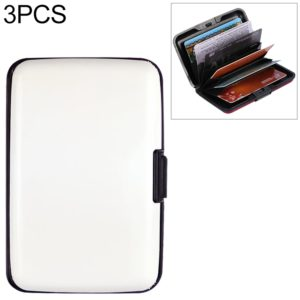 3 PCS Multi-card Credit Card Package Card holder Bank Card Bag(White)