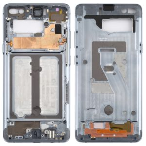 Middle Frame Bezel Plate with Side Keys for Galaxy S10 5G (Grey)