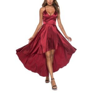 Sexy Lady Sling Strapless Dress for Women (Color:Red Size:L)
