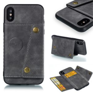 Leather Protective Case For iPhone X & XS(Gray)