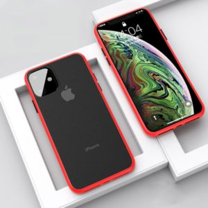 For iPhone 11 Pro CAFELE Gorgeous Series Silicone Frame + Matte PC Board Full Coverage Anti-fall Phone Protective Case(Red) (CAFELE)