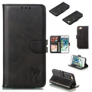 Leather Protective Case For iPhone SE 2020 & 8 & 7(Black)