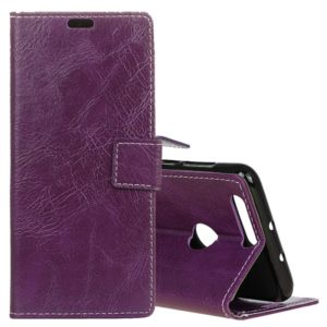 Retro Crazy Horse Texture Horizontal Flip Leather Case for Xiaomi Mi 8 Lite, with Holder & Card Slots & Wallet & Photo Frame (Purple)