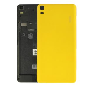 For Lenovo K3 Note / K50-T5 / A7000 Turbo Battery Back Cover(Yellow)