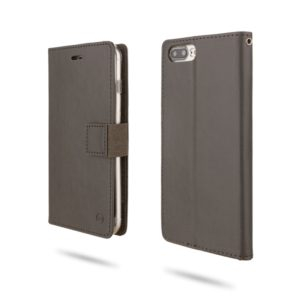 For iPhone 8 Plus & 7 Plus & 6 Plus ROAR Shockproof PU + TPU Horizontal Flip Leather Case with Holder & Card Slots(Grey) (ROAR)