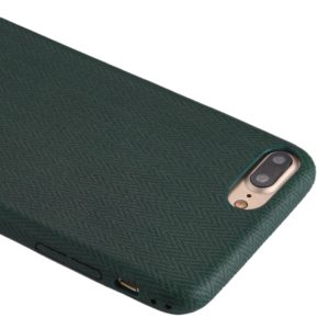 For iPhone 8 Plus & 7 Plus TPU Wave Pattern Protective Back Cover Case (Green)