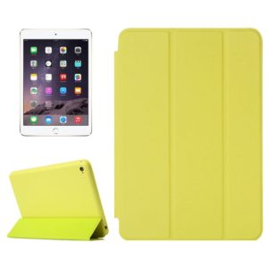 Horizontal Flip Solid Color Leather Case with Holder & Sleep / Wake-up Function for iPad mini 4(Green)