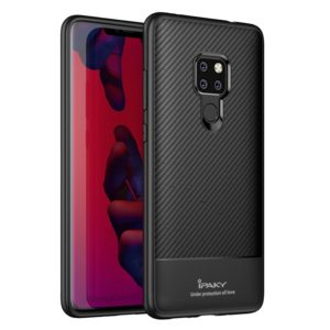 iPAKY Carbon Fiber Texture Soft TPU Case for Huawei Mate 20(Black) (iPAKY)