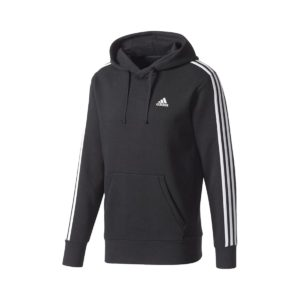 Adidas Performance Essentials 3-Stripes Pullover Μαυρο