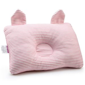 Baby Shaping Pillow Prevent Flat Head Infants Bedding Pillows for Baby Newborn Boy Girl(Pink)