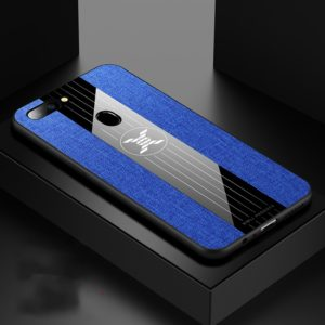 For OPPO R11S Plus XINLI Stitching Cloth Textue Shockproof TPU Protective Case(Blue) (XINLI)