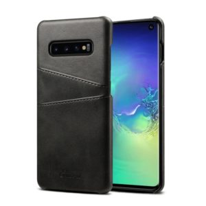 Suteni Calf Texture Protective Case for Galaxy S10, with Card Slots (Black)