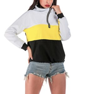 Hooded Long-sleeved Loose Sweatershirt (Color:As Show Size:L)