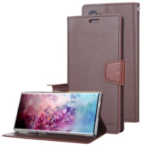 For Galaxy Note 10 MERCURY GOOSPERY SONATA DIARY Horizontal Flip Leather Case with Holder & Card Slots & Wallet(Brown) (GOOSPERY)