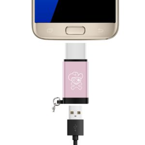 ENKAY Hat-prince HC-12 Micro USB to USB 3.1 / Type-C Mini Adapter Cable, with Key Chain(Rose Gold) (ENKAY)