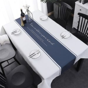 Simple Decorative Linen Tablecloth Waterproof Oilproof Rectangular Dining Table Cloth, Size:85x85cm(Enjoy Life)
