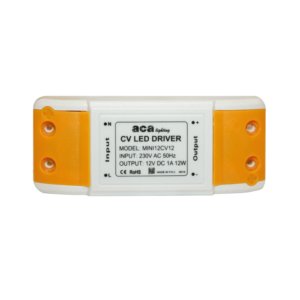 MINI PLASTIC 12W CV LED DRIVER 230V-12V 1A IP20