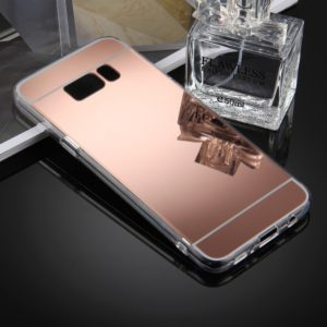 For Galaxy S8 + / G955 Acrylic TPU Mirror Protective Back Cover Case(Rose Gold)