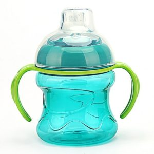 Feeding Bottles Cups for Babies Kids Water Milk Bottle Soft Mouth Baby Feeding Bottle Infant Training With Handle(Blue)