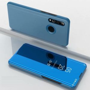 Electroplating Mirror Horizontal Flip Leather Case for Huawei P Smrt Z with Holder(Blue)