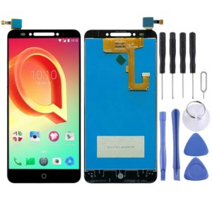LCD Screen and Digitizer Full Assembly with Fingerprint Button for Alcatel A5 5085Y (Black)