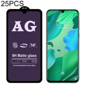 25 PCS AG Matte Anti Blue Light Full Cover Tempered Glass For Huawei Honor 20i