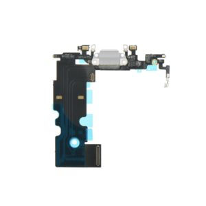 Charging connector flex cable white - Apple iPhone 8 4,7
