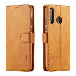 For Huawei P30 Lite / Nova 4e LC.IMEEKE Calf Texture Horizontal Flip Leather Case, with Holder & Card Slots & Wallet(Yellow) (LC.IMEEKE)