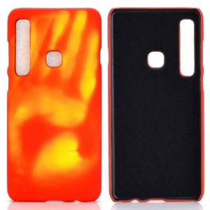 Paste Skin + PC Thermal Sensor Discoloration Case for Galaxy A9 (2018)(Yellow)