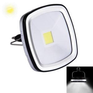 3W Rechargeable White Light Camping Light , 270 LM Solar Panel Outdoor Emergency Light with Handle, DC 5V(Black)