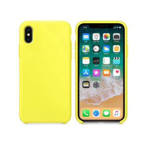Silicone case No brand, For Apple iPhone X/XS, Soft touch, Yellow - 51647