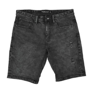 MJS-19VA Double Denim Shorts (μεγάλα μεγέθη)(denim black)