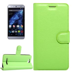 For BLU Energy X Litchi Texture Horizontal Flip Leather Case with Magnetic Buckle & Holder & Card Slots & Wallet(Green)