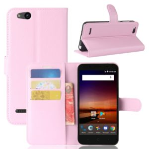 For ZTE Tempo X / N9137 Litchi Texture Horizontal Flip Leather Case with Holder & Card Slots & Wallet (Pink)