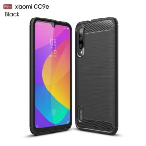 Brushed Texture Carbon Fiber TPU Case for Xiaomi Mi CC9e / Xiaomi A3(Black)