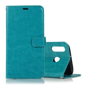 Crazy Horse Texture Horizontal Flip Leather Case with Holder & Card Slots & Wallet & Photo Frame for Galaxy M30(Blue)