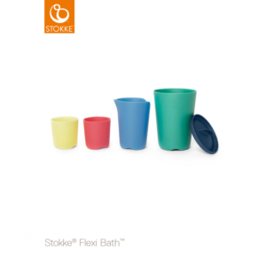 Stokke - Flexi Bath Toy Cups Multi Colour