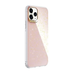 For iPhone 11 Pro SULADA Gold Foil TPU Plating Protective Case(Pink) (SULADA)