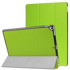 Custer Texture Horizontal Flip Smart Leather Case with 3-folding Holder for iPad Pro 12.9 inch with Sleep / Wake-up Function(Green)
