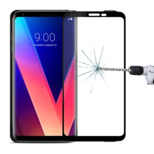 MOFI for LG V30 9H Surface Hardness 2.5D Arc Edge Full Screen Tempered Glass Film Screen Protector (MOFI)