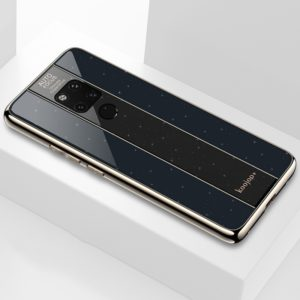 Electroplated Mirror Glass Case for Huawei Mate 20 X(Black)