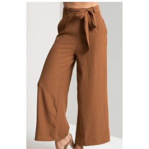 Loose Mid-rise Casual Pants (Color:Brown Size:L)